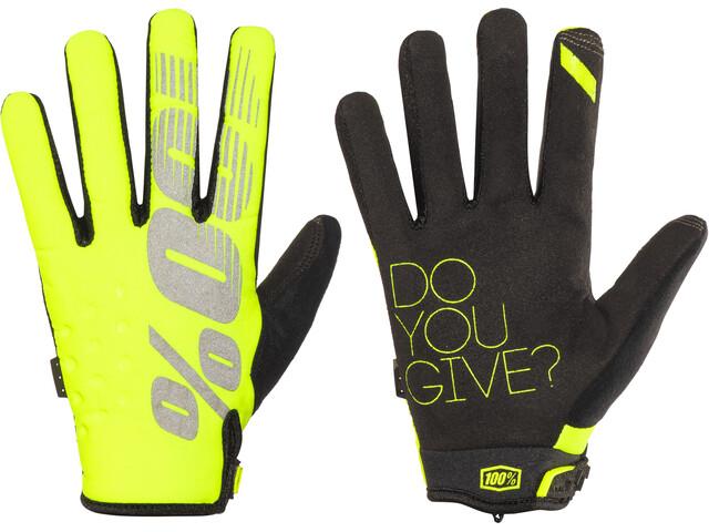 100% Brisker Cykelhandsker gul/sort | Handsker